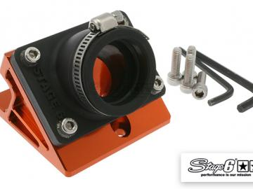 Ansaugstutzen & Spacer Stage6 R/T Minarelli Orange