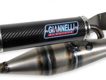 Auspuff Giannelli Shot V4 Minarelli Liegend mit E-Prüfzeichen