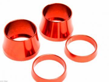 CNC Ring Set für STR8 Lenkergriffe Orange
