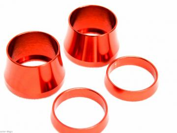 CNC Ring Set für STR8 Lenkergriffe Orange