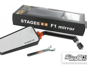 Spiegel Stage6 F1 links M8 Carbon-look glanz