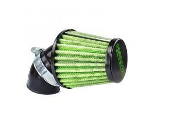 Rennluftfilter Carenzi KN 45° 28mm/35mm Schwarz Grün