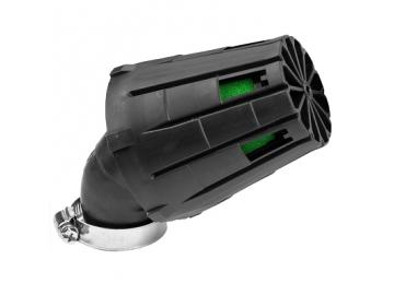Rennluftfilter Carenzi KN 45° 28mm/35mm Schwarz Grün Malossi Art