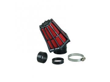 Rennluftfilter Carenzi 45° 28mm/35mm Carbon Rot Malossi Art