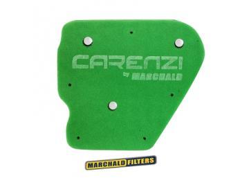 Sport Luftfiltereinsatz Carenzi Grün für Minarelli liegend