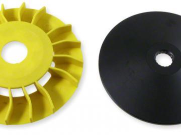Riemenscheibe CNC mit Lüfterrad Minarelli 13mm