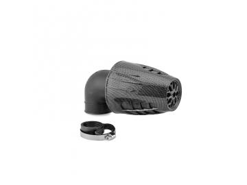 Rennluftfilter Carenzi 90° 28mm/35mm Carbon