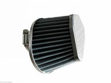 Rennluftfilter oval Alu 0° 35mm