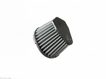 Rennluftfilter oval Carbon 0° 42mm