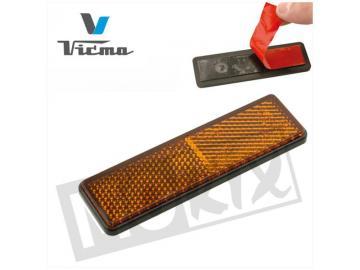 Reflektor Rechteckig 91x25mm Orange selbstklebend CE