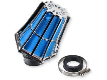Luftfilter R-Evolution 45° 28/35mm Chrom/Blau