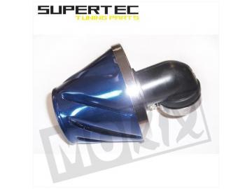 Rennluftfilter Helix 28/35mm 90° Blau