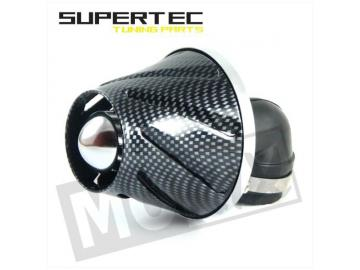 Rennluftfilter Helix 28/35mm 90° Carbon