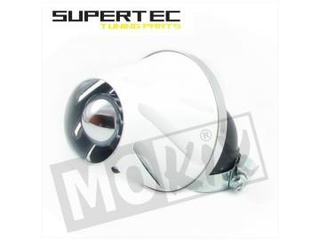 Rennluftfilter Helix 28/35mm 90° Weiß