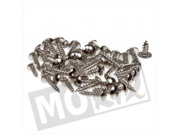 Verkleidungsschraubenset 50-tlg SP Silber