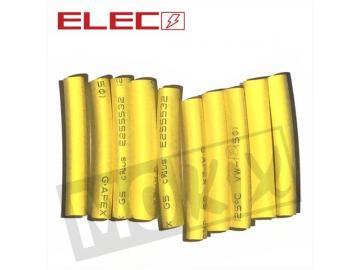 Schrumpfschlauch Stücke 5mm x 40mm Gelb 10st.
