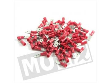 Kabelschuhe 6,3mm Stift Männlich Rot 10St