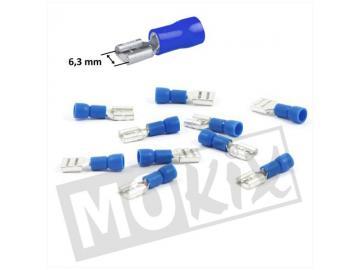 Kabelschuhe 6,3mm Stift Weiblich Blau 10St