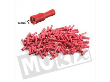 Kabelschuhe Rundkopf 4mm Weiblich Rot 10St