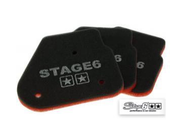 Luftfiltereinsatz Stage6 Double-Layer für Minarelli liegend