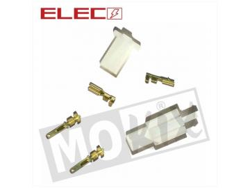 Elektrostecker 2 Pin 6-teilig