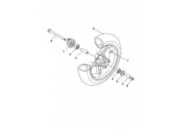 Explosionszeichnung Vorderachse MBK Nitro Yamaha Aerox