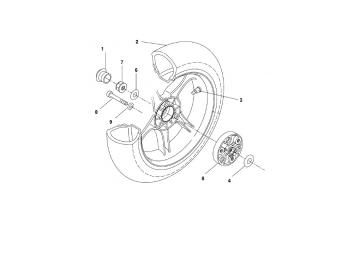 Explosionszeichnung Hinterachse MBK Nitro Yamaha Aerox