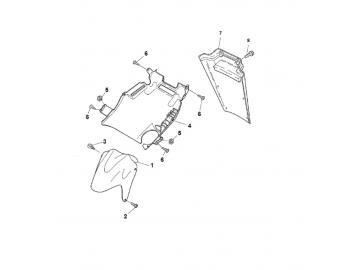 Explosionszeichnung Schutzbleche MBK Nitro Yamaha Aerox