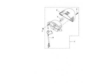 Explosionszeichnung Rückleuchte MBK Nitro Yamaha Aerox