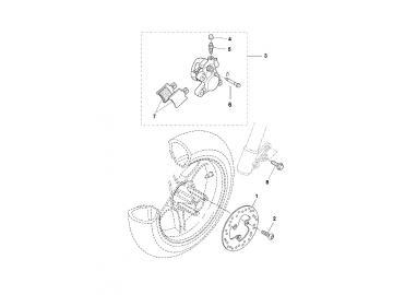 Explosionszeichnung Bremse Vorne MBK Nitro Yamaha Aerox