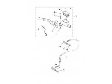 Explosionszeichnung Bremspumpe Vorne MBK Nitro Yamaha Aerox