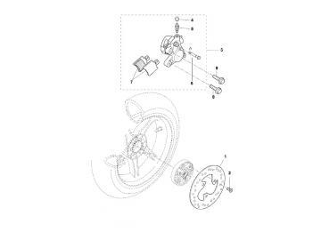 Explosionszeichnung Bremse Hinten MBK Nitro Yamaha Aerox