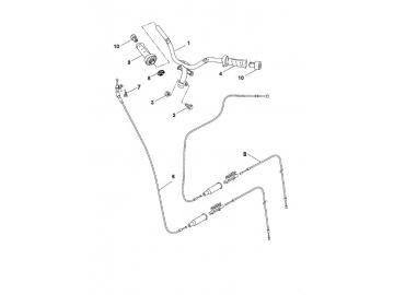 Explosionszeichnung Lenker & Gaszug MBK Nitro Yamaha Aerox