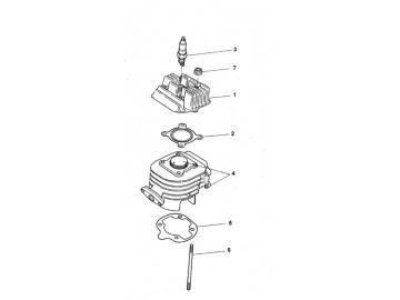 Explosionszeichnung Zylinder Minarelli stehend AC