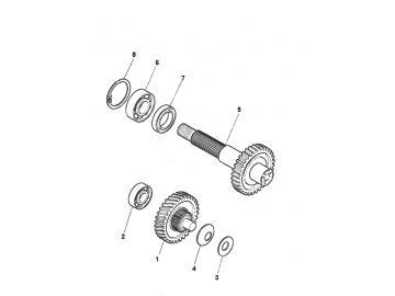 Explosionszeichnung Getriebe Minarelli stehend