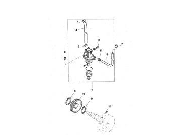 Explosionszeichnung Ölpumpe Minarelli stehend