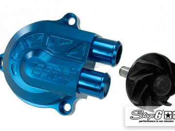 Wasserpumpe Stage6 CNC Racing Type Blau Minarelli liegend