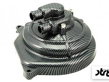 Wasserpumpendeckel STR8 Carbon Optik Minarelli liegend