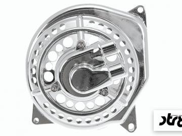 Wasserpumpendeckel STR8 Chrom gelocht Minarelli liegend