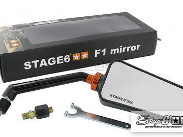 Spiegel Stage6 F1 rechts M8 Carbon-look Matt