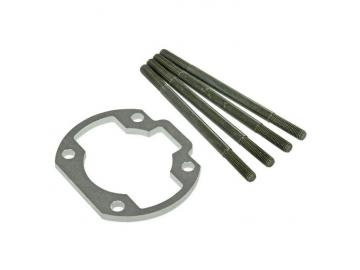 Zylinderfußspacer Stage6 R/T 5mm inkl. Stehbolzen für 85mm-Pleuel MK2 Zylinder Minarelli