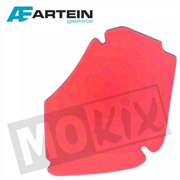 Luftfiltereinsatz Artein Rot für Piaggio Zip 4 Takt