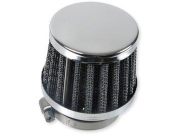 Rennluftfilter KN 0° 28mm Chrom