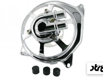 Wasserpumpendeckel STR8 Extreme Cut Chrom Minarelli LC