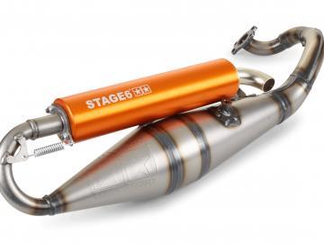 Auspuffanlage Stage6 Pro Replica MKII Minarelli liegend Orange