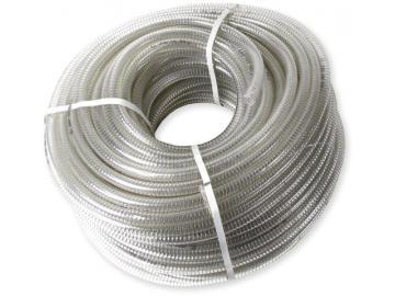Kühlwasserschlauch 16x22 Transparent mit Stahlspirale