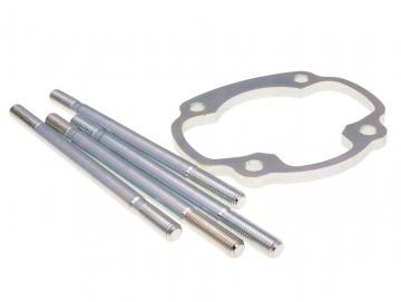 Zylinderfußspacer Polini Big Evo 5mm inkl. Stehbolzen für 85mm-Pleuel Minarelli
